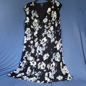 Black Dress Floral Design - CHAPS